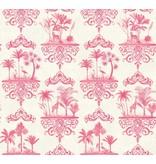 Cole-Son Rousseau Rose Pink, Roze, Wit 99/9041 Behang