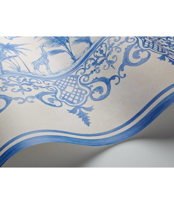 Cole-Son Rousseau Cobalt Blue, Blauw, Wit 99/10042 Wallpaper