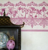 Cole-Son Rousseau Border Soft Charcoal (Donker Grijs / Antraciet, Wit) 99/10044 Wallpaper