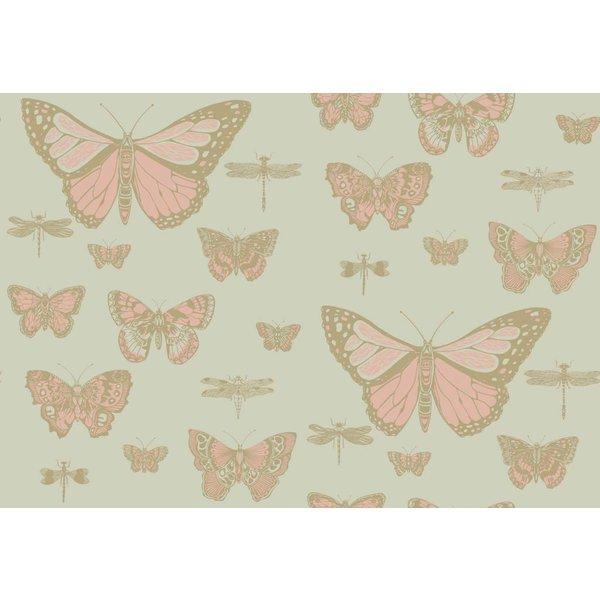 Butterflies & Dragonflies Pink & Olive 103/15063
