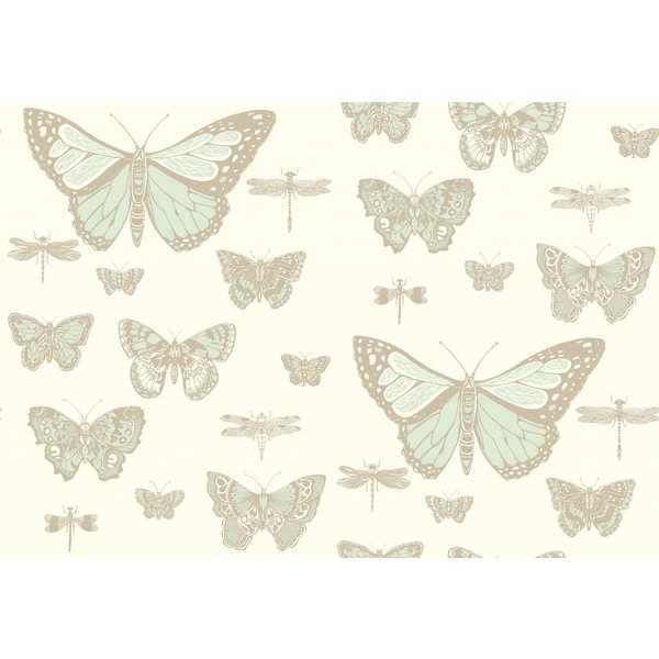 Butterflies & Dragonflies Duck Egg, Ivory 103/15065