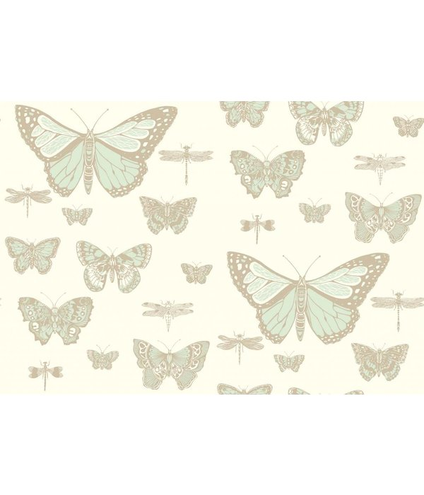 Cole-Son Butterflies & Dragonflies Duck Egg, Ivory 103/15065 Wallpaper