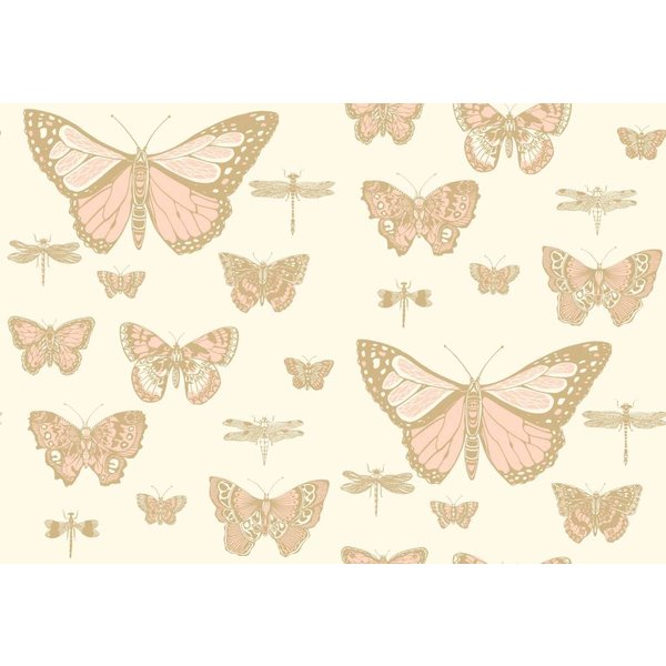 Butterflies & Dragonflies Pink, Ivory (Roze, Wit) 103/15066