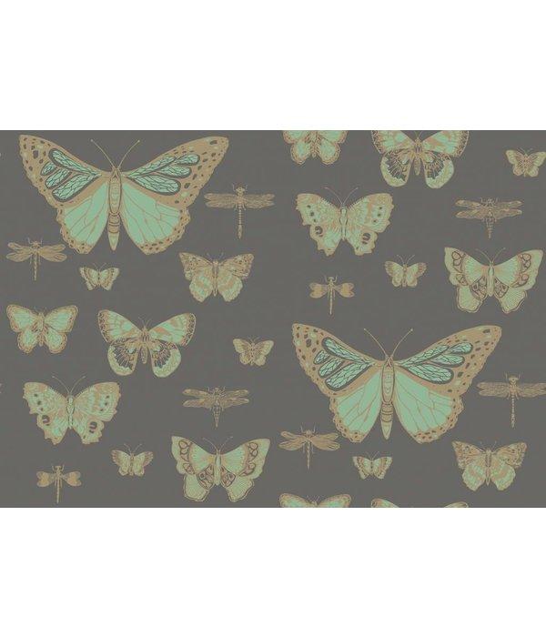 Cole-Son Butterflies & Dragonflies Green, Charcoal (Groen, Antraciet Grijs) 103/15067 Behang