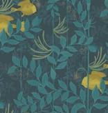 Cole-Son Nautilus Dark Blue (Blauw, Geel) 103/4018 Wallpaper