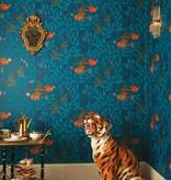 Cole-Son Nautilus Dark Blue (Blauw, Geel) 103/4018 Behang