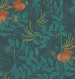 Cole-Son Nautilusdark Green (Donker Groen, Oranje) 103/4019 Behang