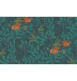 Cole-Son Nautilusdark Green (Donker Groen, Oranje) 103/4019 Wallpaper