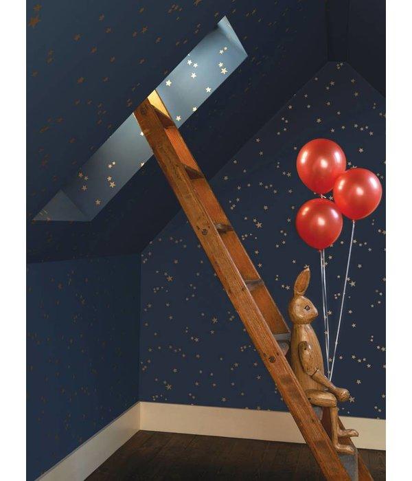Cole-Son Stars Linen & Gold 103/3013 Wallpaper