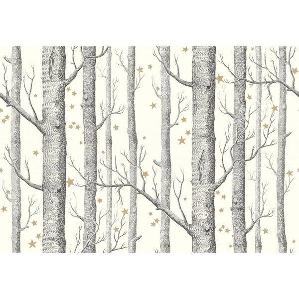 Woods & Stars Zwart, Wit, Met Gouden Sterren 103/11050