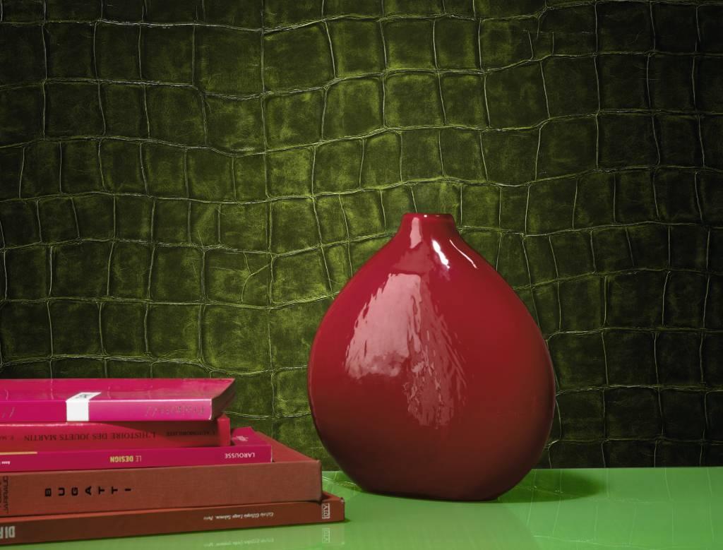 Behang big croco groen vp42330   de mooiste muren