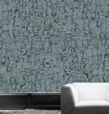 Tres-Tintas Behang Mil Caras blauw Wallpaper