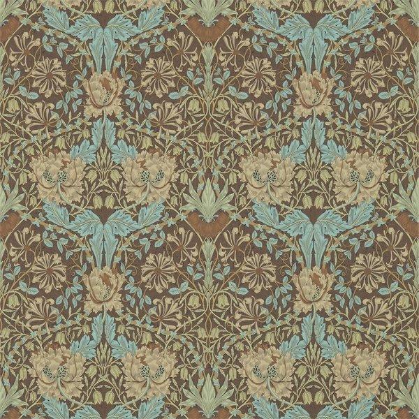 Honeysuckle & Tulip Taupe/Aqua 214702
