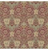 Morris-Co Honeysuckle & Tulip Red/Gold 214700
