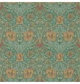 Morris-Co Honeysuckle & Tulip Emerald/Russet 214704