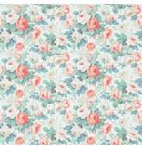 Sanderson Chelsea Coral/Emerald 214605