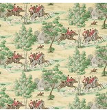 Sanderson Tally Ho Evergreen/Crimson 214598