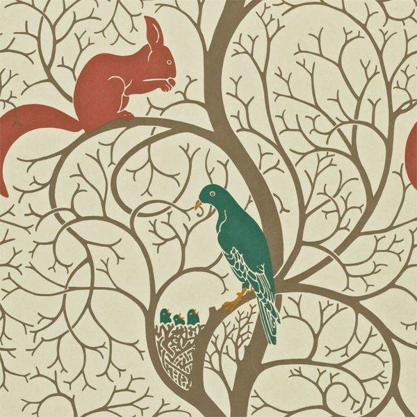 Squirrel & Dove Teal/Red DVIWSQ102