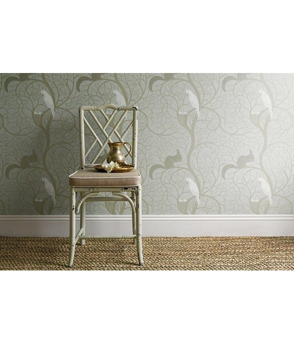 Sanderson Squirrel & Dove Eggshell/Ivory DVIWSQ103 Behang