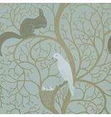 Sanderson Squirrel & Dove Eggshell/Ivory Wallpaper