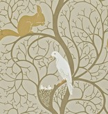 Sanderson Squirrel & Dove Linen/Ivory Wallpaper