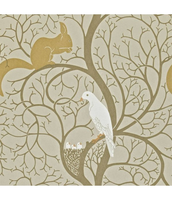 Sanderson Squirrel & Dove Linen/Ivory DVIWSQ101 Behang
