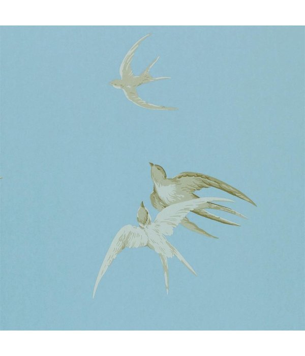 Sanderson Swallows Wedgwood Wallpaper