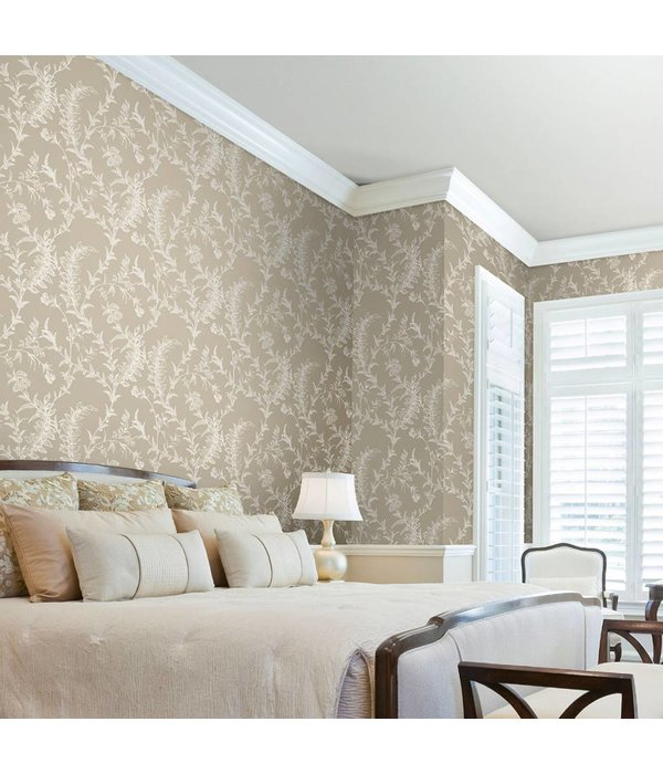 Cole-Son Ludlow Beige En Zilver 88/1004 Wallpaper