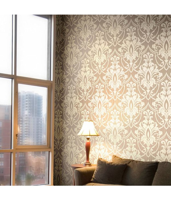 Cole-Son ST. PETERSBURG DAMASK Bruin En Wit 88/8034 Wallpaper