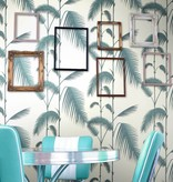 Cole-Son Palm Leaves Lichtblauw En Groen 66/2010 Wallpaper