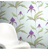 Cole-Son Orchid Violet on Blue 66/4025 Wallpaper