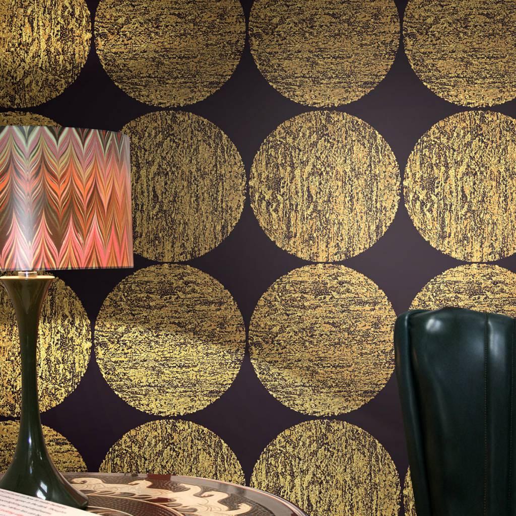 Luna zwart met glans, bruin en goud 69/5119   de mooiste muren