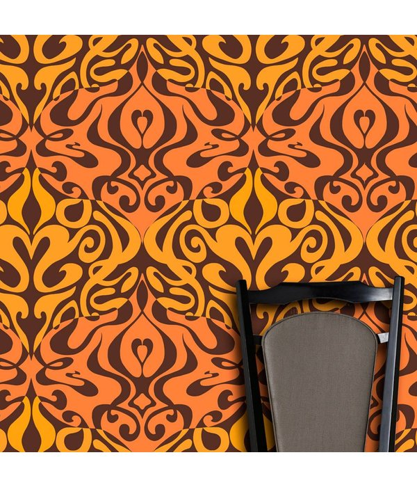 Cole-Son Woodstock Zwart, Roze En Paars 69/7125 Wallpaper
