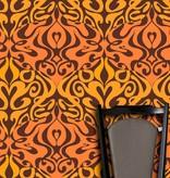 Cole-Son Woodstock Zwart, Oranje En Geel / Oranje 69/7126 Behang