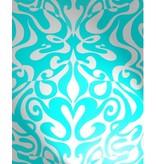 Cole-Son Woodstock Zilver En Turquoise 69/7128 Wallpaper