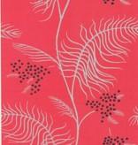 Cole-Son Mimosa Rood, Zilver En Zwart 69/8130 Behang