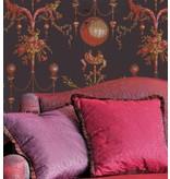 Braquenie Roziere Fond Gisors Corail Wallpaper