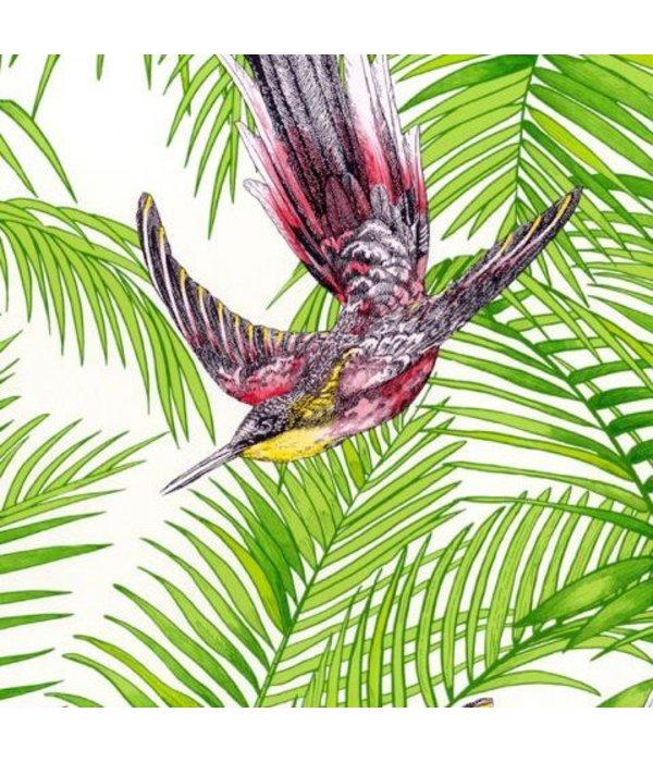 Matthew-Williamson Sunbird Grass/Cerise/Metallic Wallpaper