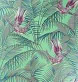 Matthew-Williamson Sunbird Grass/Cerise/Metallic W654303 Behang