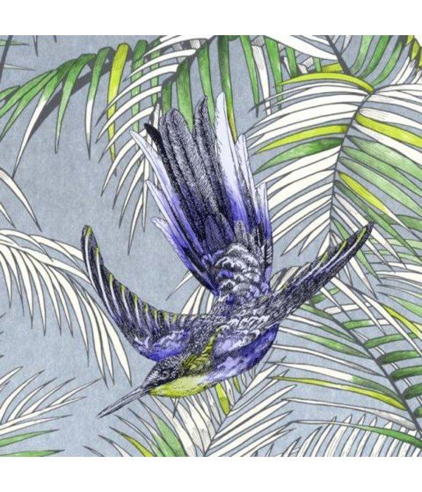 Matthew-Williamson Sunbird Metallic/Blue/Grass W654301 Behang