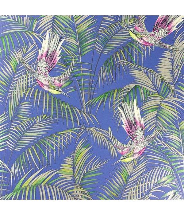 Matthew-Williamson Sunbird Blue/Fuchsia/Metallic Wallpaper