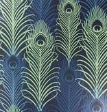 Matthew-Williamson Peacock Midnight/Metallic W654101 Behang