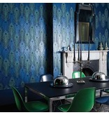 Matthew-Williamson Peacock Jade/Metallic Wallpaper