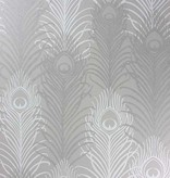 Matthew-Williamson Peacock Pebble/White Wallpaper