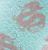 Matthew-Williamson Celestial Dragon Ice Blue/Rose/Gold W654501 Behang