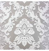 Matthew-Williamson Pegasus Metallic Silver/White Wallpaper