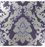 Matthew-Williamson Pegasus Dark Violet/Gilver W654004 Behang