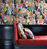 Manuel-Canovas Dara Turquoise Wallpaper