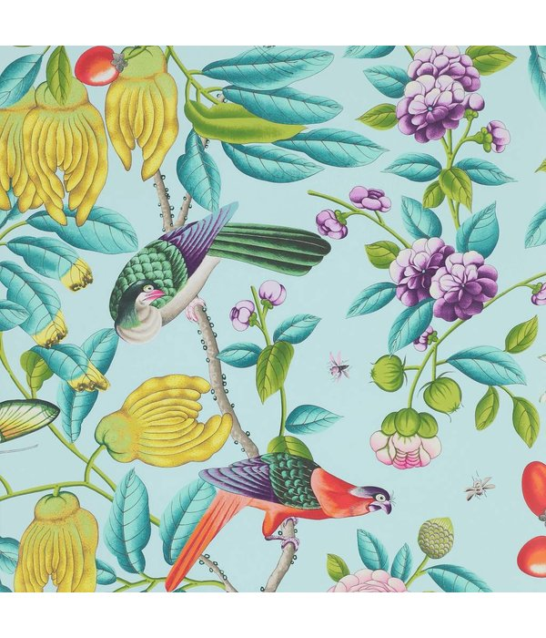 Manuel-Canovas Serendip Turquoise Wallpaper