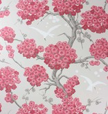 Osborne-Little Japonerie Red/Linen/Taupe/Ivory Wallpaper